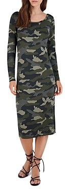 BB Dakota x Steve Madden Can You See Me Now Camo Print Midi Dress