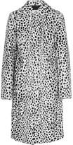 Givenchy Coat In Dalmatian-print Goat Hair - White