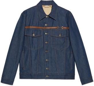 Gucci Washed denim jacket with Horsebit