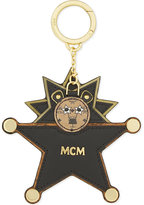 Mcm Lion Star Leather Keyring