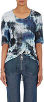 Raquel Allegra Women's Tie-Dyed T-Shirt-BLUE