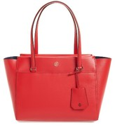 Tory Burch Small Parker Leather Tote - Green