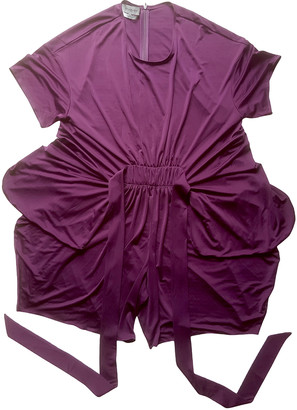 Saint Laurent Purple Synthetic Jumpsuits