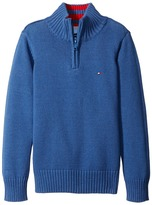Tommy Hilfiger Edward 1/2 Zip with Rib Stitch Sweater (Toddler/Little Kids)