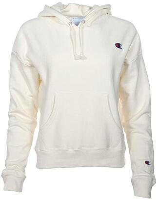 Champion Reverse Weave(r) Hoodie - Small C (Chalk White) Women's Clothing