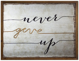 American Art Decor Rustic Never Give Up Inspirational Quote