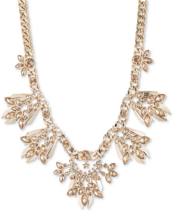 """Givenchy Gold-Tone Crystal Statement Necklace, 16"""" + 3"""" extender"""
