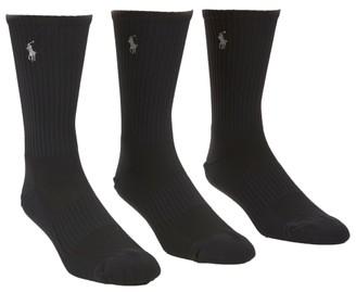 Polo Ralph Lauren Tech Athletic Crew Socks 3-Pack