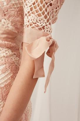 Keepsake NO AIR LACE MINI DRESS blush
