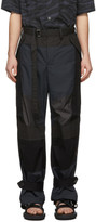 Sacai Black Fabric Combo Pants