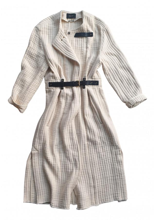 Isabel Marant Ecru Cotton Coats