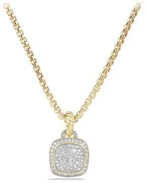 David Yurman Albion Pendant With Diamonds In 18K Gold, 11Mm