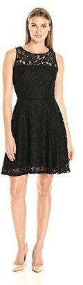 Karen Kane Women's Fit and Flare Lace Dress