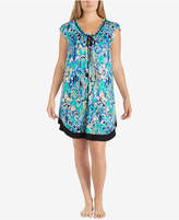 Ellen Tracy Plus Size Printed Pleated Chemise
