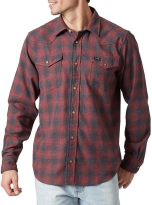 Wrangler Men's Plaid Flannel Snap-Front Western Shirt