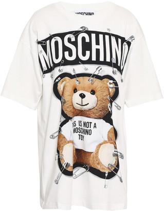 Moschino Printed Cotton-jersey T-shirt