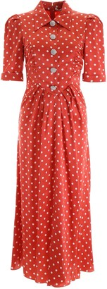 Alessandra Rich Polka-Dot Maxi Dress