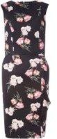 Dorothy Perkins Womens **Tall Floral Print Pencil Dress- Black