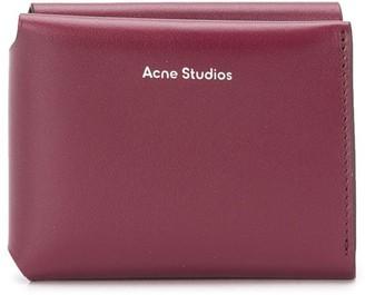 Acne Studios Logo-Print Trifold Wallet