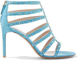 Valentino Rockstud Spike Suede Sandals