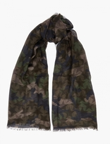 Valentino Camustar Silk and Cashmere-Blend Scarf