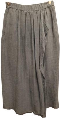 Masscob Blue Linen Skirt for Women
