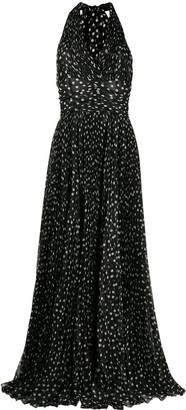 Dolce & Gabbana Polka-Dot Floor-Length Dress