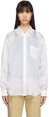 Comme des Garçons Shirt White Cupro Taffeta Forever Shirt
