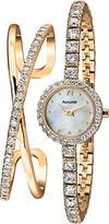 Accurist Women's Quartz Watch with Mother of Pearl Dial Analogue Display and Gold Bracelet LB1799.01