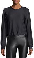Koral Activewear Sofia Crewneck Long-Sleeve Pullover Top