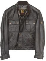 Belstaff Cougar Leather Blouson Jacket in 9051 Antique Black -