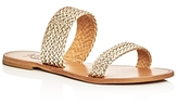 Joie a la Plage Joie Sable Metallic Woven Slide Sandals