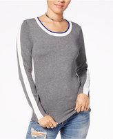 Hippie Rose Juniors' Side-Striped Sweater
