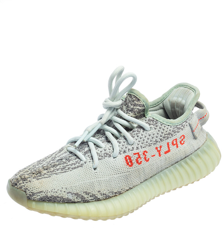 Yeezy x Adidas Primeknit Boost 350 V2 Blue Tint Sneakers Size FR36