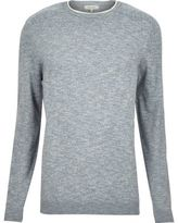River Island MensLight blue crew neck sweater