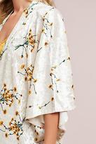 Anthropologie Dandelion Velvet Kimono