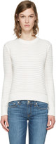 Rag & Bone White Knit Open Back Sweater