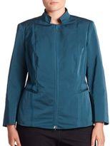 Lafayette 148 New York, Plus Size Adley Zip-Front Jacket