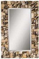 Uttermost Thatcher Teak Beveled Wall Mirror