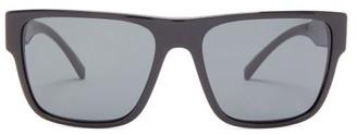 Versace Flat-top D-frame Acetate Sunglasses - Mens - Black