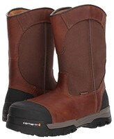 Carhartt 10 Waterproof Comp Toe Pull-On Work Boot (Brown Leather) Men's Work Boots