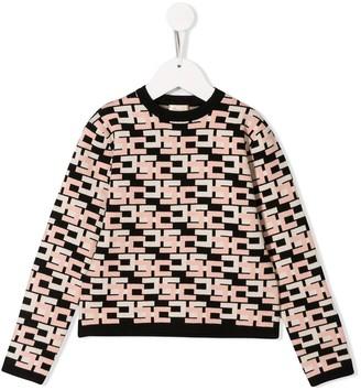 Elisabetta Franchi La Mia Bambina logo pattern jumper