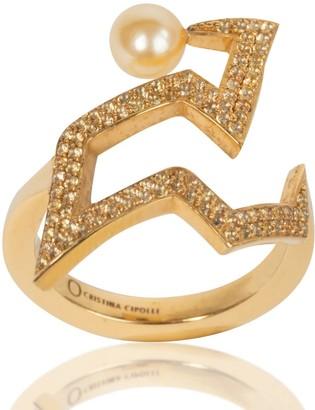 Cristina Cipolli Jewellery Snaketric Edgy Ring Gold Vermeil