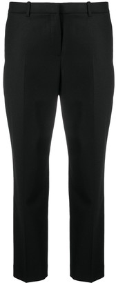 Theory Cropped Tapered-Leg Trousers