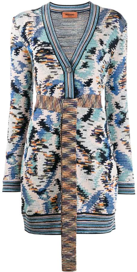 Missoni all-over pattern cardigan