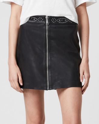 AllSaints Luna Studded Skirt