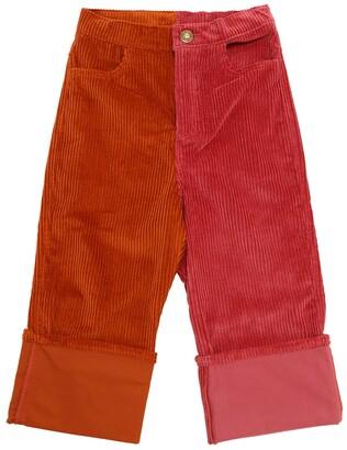 Oscar de la Renta Cotton Corduroy Pants