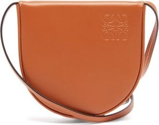 Loewe Heel Leather Pouch - Tan