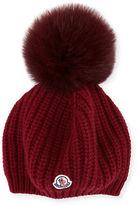 Moncler Jumbo Fur Pompom Beanie Hat