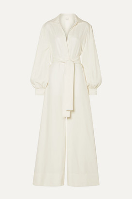 Co Belted Twill Jumpsuit - Ivory